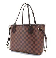 Authentic LOUIS VUITTON Neverfull PM Damier Ebene Tote Bag Purse #31324