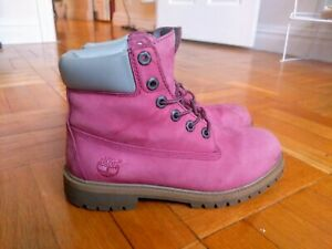 Pink Timberland Boots (Leather)
