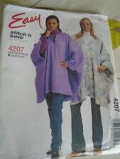 4207 PATRON McCALL'S 2 VERSIONS PONCHO HIVER GRANDE TAILLE 48 A 54