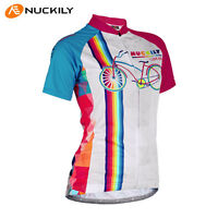 Womens cycling jersey Short Sleeve Bike Outdoor Sports wear Top Shirt Quick Dry