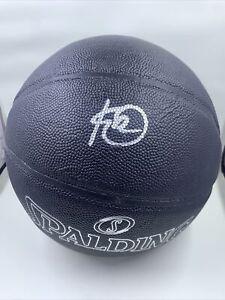 Kelly Oubre Jr. Signed Black Spalding Basketball PSA/DNA Charlotte Hornets