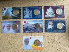VATIKAN Coin Card Coincard 50 Cent Nr. 2 bis Nr. 8  ( 2011 bis 2017 )  Vaticano