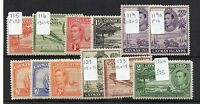 Cayman Islands 1938-48 vals to 2s + variations MNH/MLH