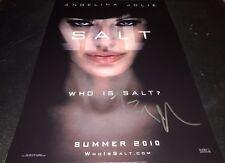 Angelina Jolie Actress Salt Hand Signed 12x18 Autographed Photo COA Proof