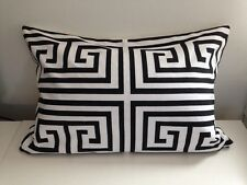 Greek Key Black and White Pillow Cover Geometric