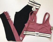 Victoria's Secret PINK  Fashion Show Strappy Sport Bra & Yoga Legging  Begonia S
