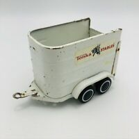 Vintage Tonka Stables Pressed Steel Horse Trailer White