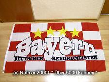 Fahnen Flagge Bayern Deutscher Rekordmeister Fan - 90 x 150 cm