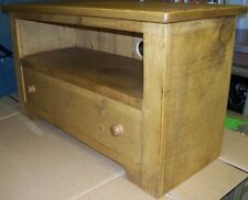 NEW SOLID WOOD TV STAND CABINET ENTERTAINMENT UNIT RUSTIC PLANK PINE FURNITURE