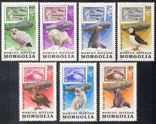 Mongolia 1981 Zeppelin/Owl/Birds/Bear/Eagle 7v b1744
