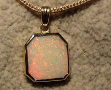 UNICO- ciondolo opale in oro 585 CON GEMMA , senza collana video