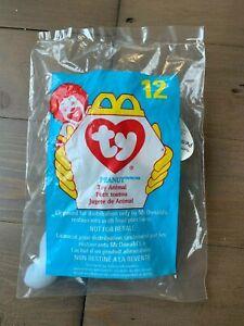 NIP McDonalds 1993 Tag Ty Teenie Beanie Baby Peanut the Elephant 1998 Package #2