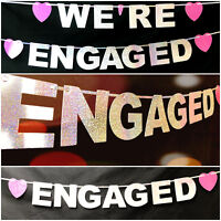 We're Engaged Engagement Party Banner Decorations Hen Do Hen night bridal shower