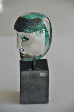 Kosta Boda Bertil Vallien - Brain on stone / green - limited Edition sign&num
