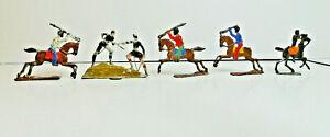 Heinrichsen zinnfiguren tin flat lot of various soldiers on horseback