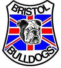 Vinyl Sticker Bristol Bulldogs 11x10cm laptop car speedway motorcycle retro cool