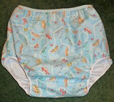 """Adult baby PUL LINED DIAPER COVER TRAFFIC JAM  40"""" HIP"""