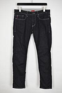 s.OLIVER CLOSE SLIM FIT Men's W33/L32 Stretchy Dark Blue Zip Jeans 36772_GS
