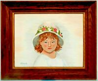 "M. JANE DOYLE SIGNED ORIGINAL ART OIL/CANVAS PAINTING ""LILLABET""(PORTRAIT)FRAMED"