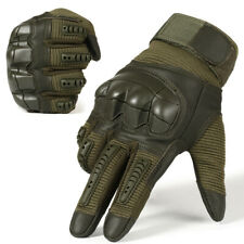 Touch Screen Tactical Hard Knuckle Paintball Airsoft Combat Full Finger Glove