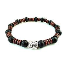 Men's beaded buddha bracelet wooden beads cuff wristband shamballa jewelry gift