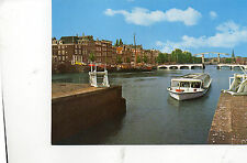 Postcard  Europe Holland  Amsterdam  The Amstel with Skinny bridge unposted