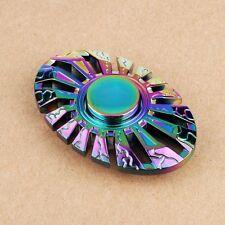 OVAL Shape Rainbow Hand Fidget Spinner Stress Titanium Metal Alloy EDC Focus Toy