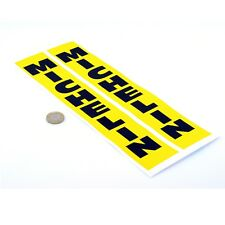 Michelin Stickers Vertical Jaune & Noir Classique race bike Fourche vinyle 300 mm x2