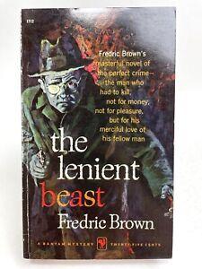THE LENIENT BEAST Fredric Brown BANTAM 1712 Mystery 1ST PRINTING Crime