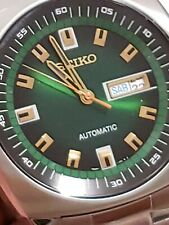💯 Seiko Men's Automatic Recraft Green Dial Stainless Steel Watch SNKM97👌💥