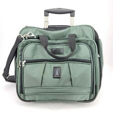 "Travelpro Walkabout Luggage Green 17.5"" Wheeled Carry On Rolling Garment Bag EUC"