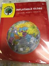 TEACHING INFLATABLE  GLOBE 16 INCH  NEW IN PACK