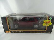 1:18 Maisto #31847 1997 Mercedes - Benz ML 55 AMG Rouge - Rareté