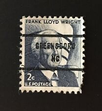 Greensboro, North Carolina Precancel - 2 cents Frank Lloyd Wright US #1280 - NC