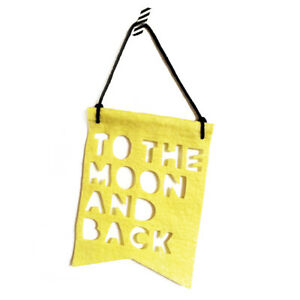 NEW Homely Creatures To The Moon & Back Banner - Yellow Children Baby