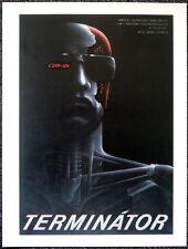 THE TERMINATOR 1984 CZECH FILM MOVIE POSTER PAGE . ARNOLD SCHWARZENEGGER . E9