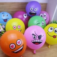 10PCS/Lot 12 Emoji Face Expression Latex Multicolor Colorful Balloons Birthday