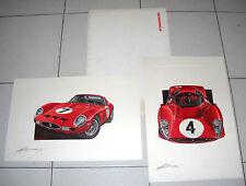 2 litografie firmate PAOLO D'ALESSIO FERRARI 1948-1987 Automotoretrò 91 Design