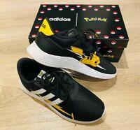*BNIB LTD Black Stripe Adidas PIKACHU Pokemon Trainers Running Shoes UK 4.5/5 37