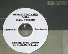 Hewlett Packard Ops & Service Manual w/schematics for 3457A Digital Voltmeter