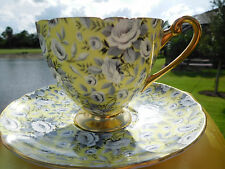SHELLEY  YELLOW TAPESTRY ROSE  CHINTZ  * RIPON * FOOTED  CUP and SAUCER