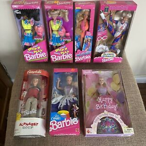 Barbie Lot: 7 Vintage Dolls NIB