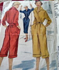 LOVELY VTG 1950s COVERAL McCALLS Sewing Pattern 14/32