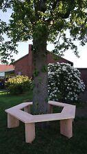 Baum Bank 360° Rundbank.Parkbank aus Lärchenholz. Krongartmöbel.