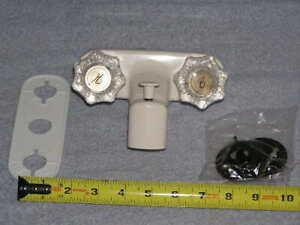 "New RV Marine light weight White 4"" bath Shower water faucet w/ diverter valve"