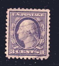 US STAMP #464 — 3c WASHINGTON  —  SUPERB —   USED —  GRADED 98