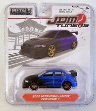 JADA TOYS JDM TUNERS 2002 MITSUBISHI LANCER EVOLUTION 7 1:64 SCALE 2017 WAVE 1A