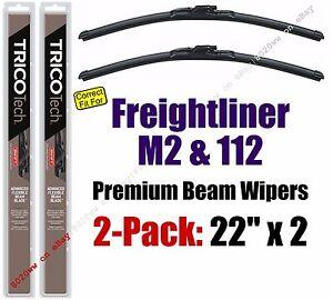 Wiper Blades 2-Pack Premium - fit 2003+ Freightliner M2 112 - 19220x2