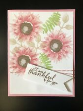 Card Kit Set Of 4 Stampin Up Painted Harvest Flowers Any Occasion