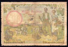 TUNISIA 1000 Francs 1941  P-20a